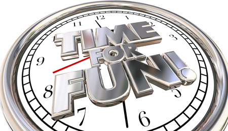 urging: TIme for Fun Clock Words Recreation Vacation Holiday