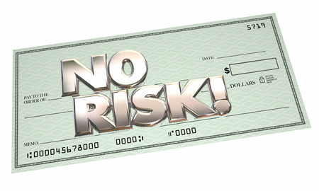 hassle: No Risk Check Easy Payment Free Cash Money Safe Secure Stock Photo