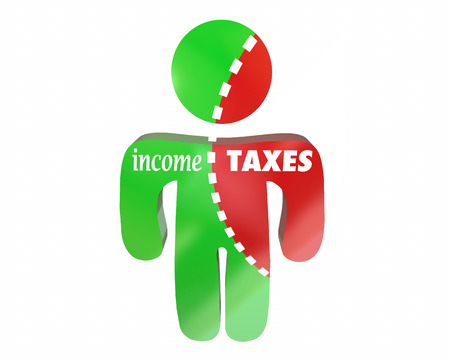 earned: Income Taxes Earnings Money Reduced Cut Share Person Words