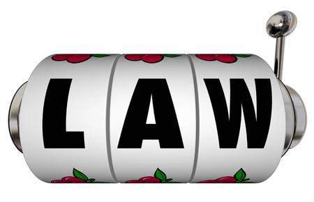 verdict: Law Legal Verdict Court Case Trial Lawyer Attorney Slot Machine Wheels
