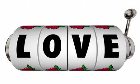 finding love: Love Jackpot Slot Machine Wheels Dials Romance Win Lucky Casino Game