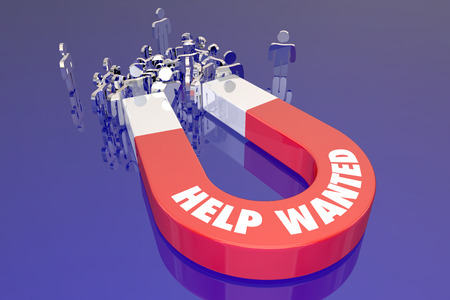 listing: Help Wanted Magnet Listing Open Job Career Workers Candidates People Word