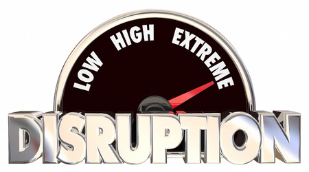 disruption: Disruption Change Adapting New Product Evolution Meter 3d Words