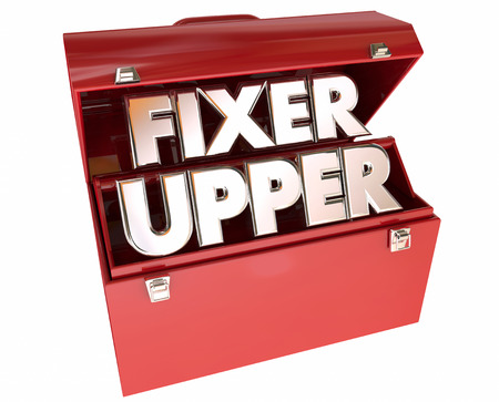 fixer: Fixer Upper House Home Repair Construction Project Stock Photo