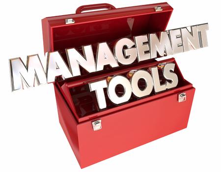skillset: Management Tools 3d Words Toolbox Leading Organization Team Executive