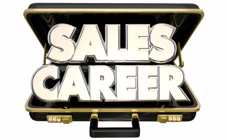 salespeople: Sales Career Job Position Selling Business Briefcase 3d Words