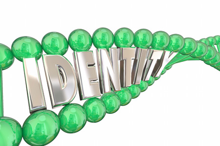 heredity: Identity DNA Word Self Internal Heredity 3d Illustration