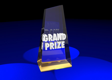 nominated: Grand Prize Award Winner Top First Place 3d Illustration Words Stock Photo
