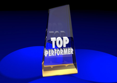 elite: Top Performer Best Employee Worker Team Member 3d Illustration Award