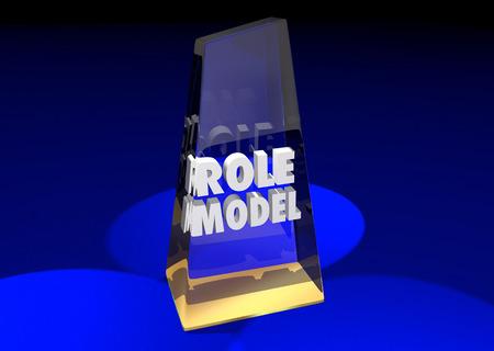 honored: Role Model Example Mentor Award Winner 3d Illustration