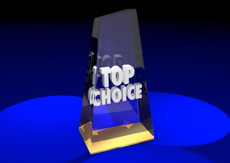 nominated: Top Choice Award Honor Best Ultimate Pick Poll Winner 3d Illustration Stock Photo