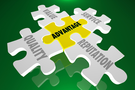 competitive advantage: Competitive Advantage Edge Quality Reputation Value Puzzle