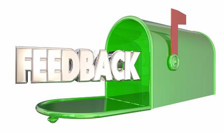 フィードバック メッセージ入力コメント メールボックス単語 3 d イラストレーション