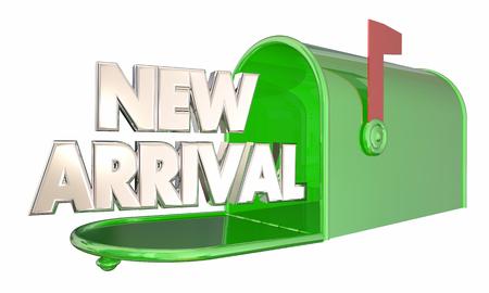 新しい到着の製品メッセージ メールボックス言葉 3 d イラストレーション 写真素材 - 56707661
