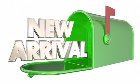 New Arrival Product Message Mailbox Words 3d Illustration
