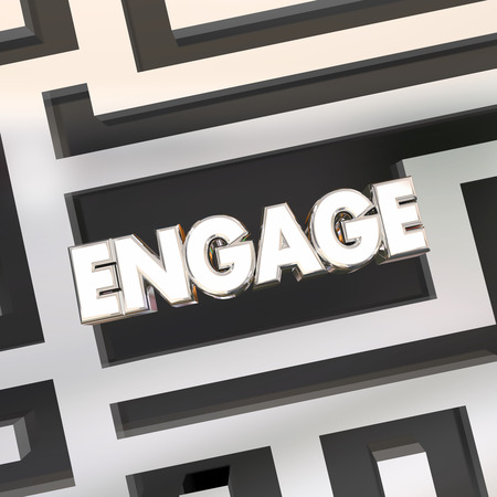 participate: Engage Maze Find Way Get Involved Participate Word 3d Illustration Stock Photo