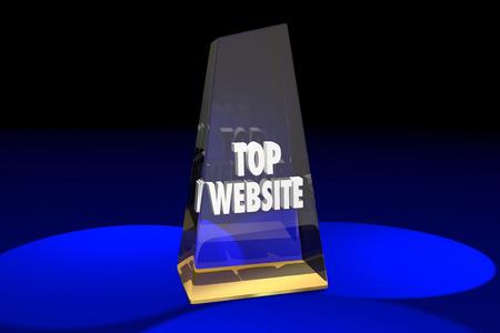 Top Website Best Online Digital Internet Award Words 3d Illustration
