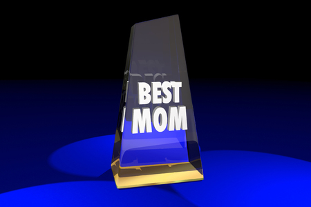 top animated: Best Mom Mother Parenting Award Words 3d Illustration