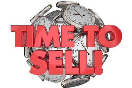 sell: Time to Sell Clocks Sales Make Money Words 3d Animation