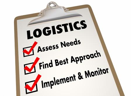 Logistics Clipboard Checklist Manage Shipping Deliveries 3d Illustration