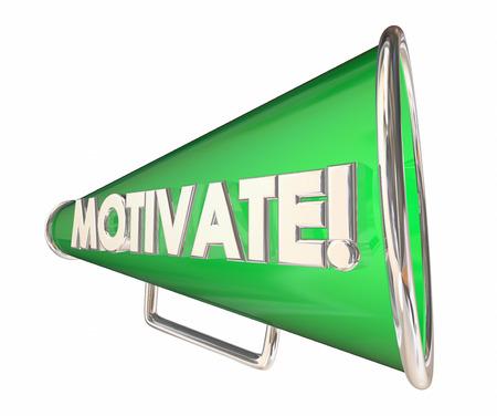 persuade: Motivate Bullhorn Megaphone Inspirational Message 3d Illustration