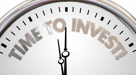 お金を節約投資する時間を稼ぐ株富を成長させる 3 d イラストを時計