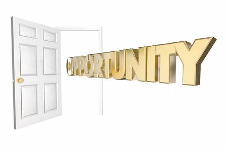 Opportunity Knocks ouverture de la porte Parole Animation 3D