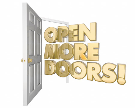 3d animation: Open More Doors New Opportunities Word 3d Animation