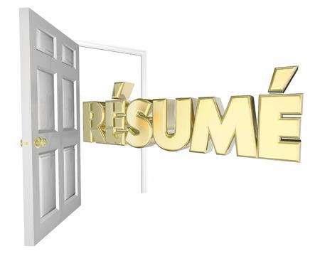 introducing: Resume Open Door Interview Job Opportunity 3d Animation