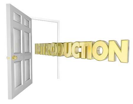 3d animation: Introduction Door Opening Welcome Word 3d Animation Stock Photo
