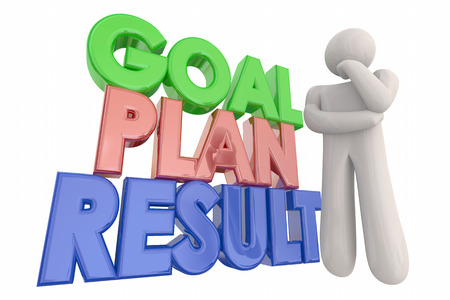 result: Goal Plan Result Success Thinking Person 3d Illustration