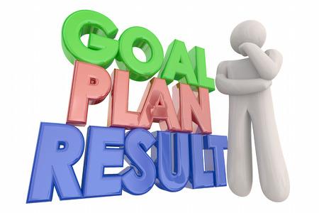 accomplishing: Goal Plan Result Success Thinking Person 3d Illustration