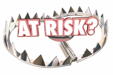 At Risk Danger Safety Bear Trap Words 3d Illustration 版權商用圖片