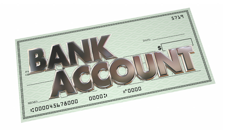 checking accounts: Bank Account Savings Checking Money Funds Words 3d Illustration