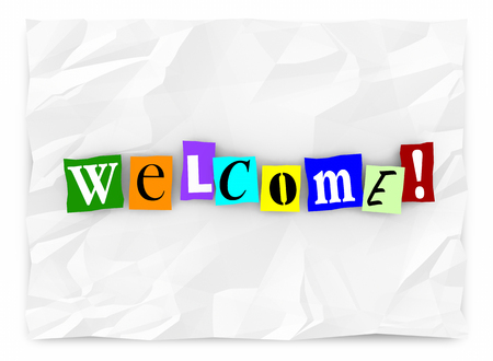 Welcome Greeting Introduction Words Letters 3d Illustration