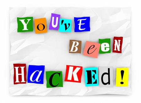 Youve Been Hacked Ransom Note Words 3d Illustration 版權商用圖片