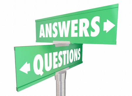 questions answers: Questions Answers Q and A Words Signs 3d Illustration Stock Photo