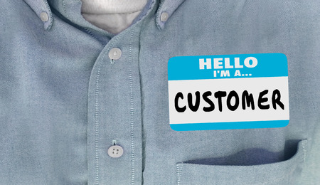 clientele: Hello Im a Customer Name Tag Sticker Shirt Words 3d Illustration