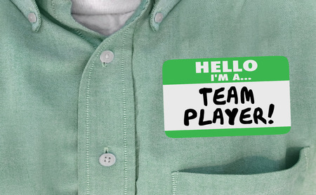 meet and greet: Hello Im Team Player Name Tag Collaborate Work Together 3d Illustration