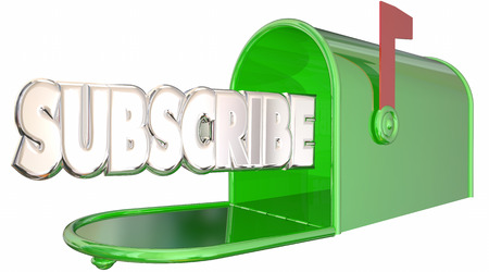 recipient: Subscribe Word Mailbox Sign Up Newsletter Info 3d Illustration