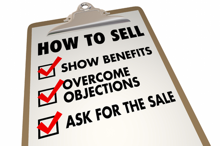 overcoming: How to Sell Instructions Advice Checklist 3d Illustration