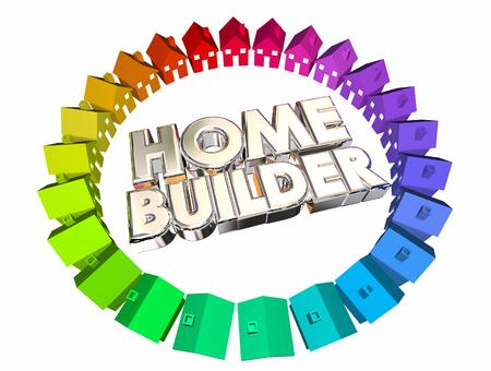 home builder: Home Builder Construction Developer Contractor 3d Illustration
