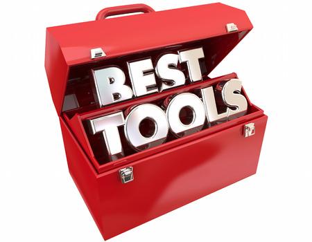 最高のツール ツールボックスの最も強力な品質 3 d 図の言葉 写真素材