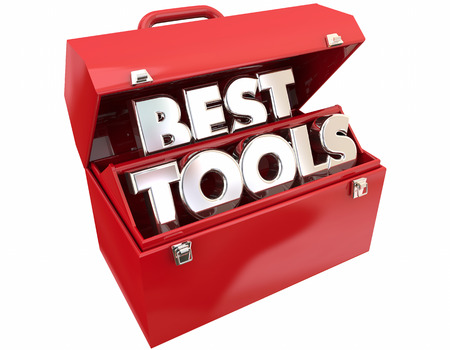 toolbox: Best Tools Toolbox Most Powerful Quality Words 3d Illustration