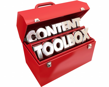 article marketing: Content Tools Online Information Audience Words 3d Illustration