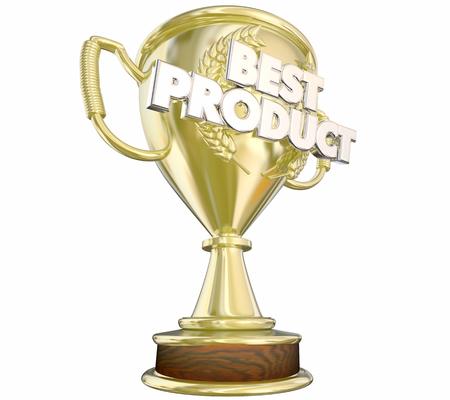 voted: Best Product Top Prize Award Gold Trophy 3d Illustration