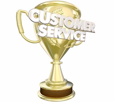 reconocimientos: Premio de Servicio al Cliente Palabras Premio Mejor Personal 3d ilustración