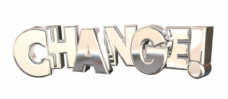 Change New Direction Innovation Word 3d Illustration Фото со стока