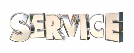 most talent: Service Company Response Attention Word 3d Illustration Stock Photo