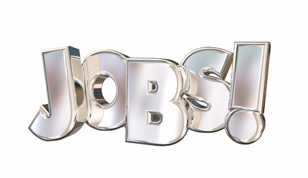 Jobs Employment Career Find Work Word 3d Illustration Stock Photo